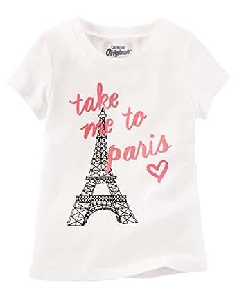 OshKosh B'gosh Ivory Round Neck T-Shirt For Girls