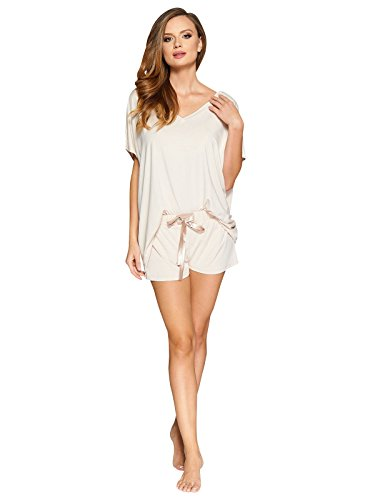 Vanilla Soft Viscose Pajama Sets For Women Long and Shorts PJ Set Made In - Set Europa