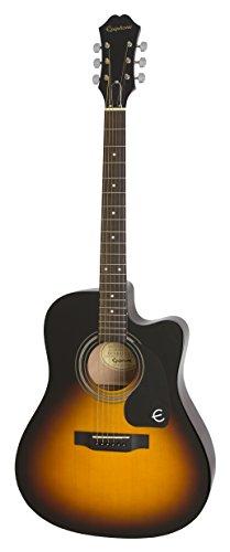 epiphone eeftvsch1 ft 100ce jumbo acoustic guitar vintage su