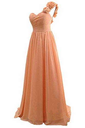 sunvary hecha a mano flores One para el hombro vestidos de fiesta Prom Fiesta Vestidos de dama naranja