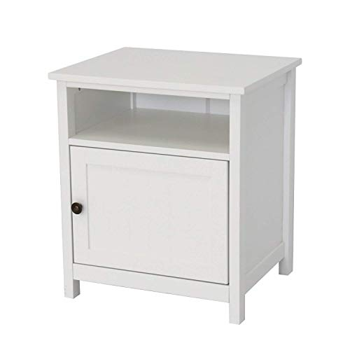 Kinbor Bedroom Furniture Night Stand Table Cabinet for Storage ()