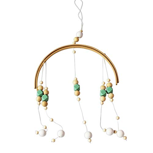 Bell Wind - Green Home Wooden Bead Wind Bell Baby Crib Children Room Decoration Gift Model 39 S Clothing Store - Decor Newborn Tube World Baby Plants Dream Boy Bell Modern Chinese Baby Roo