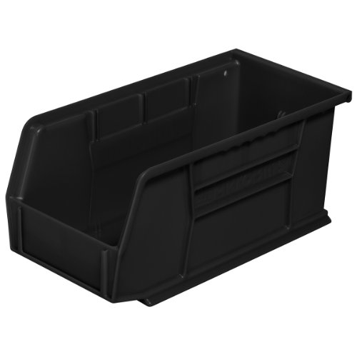 Akro-Mils 30230 Plastic Storage Stacking Hanging Akro Bin, 11-Inch by 5-Inch by 5-Inch, Black, Case of 12 by Akro-Mils