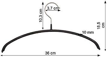 longueur 30 cm adolescents et femmes Hagspiel Lot de 10 cintres en m/étal antid/érapant noir pour enfants