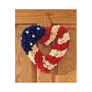 "13"" Patriotic Heart Wreaths 47"