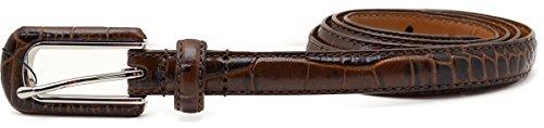 Lauren Ralph Lauren Womens Skinny Belt Faux Croc-1/2