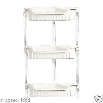 3 Layer Plastic Bathroom Shelf Storage Shelf Bath Room Floor Shampoo Rack Corner Shelf Towel Basket Home Garden Products Elegant And Sturdy Package Bathroom Hardware