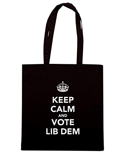 Speed Shirt Borsa Shopper Nera TKC1470 KEEP CALM AND VOTE LIB DEM