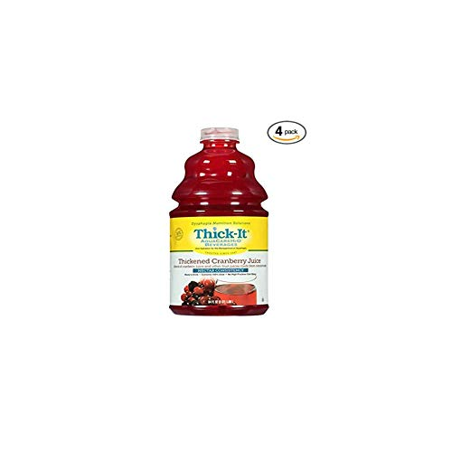 Thick It Aqua Care H20 Thickened Cranberry Juice Nectar, 64 Fluid Ounce -- 4 per case.