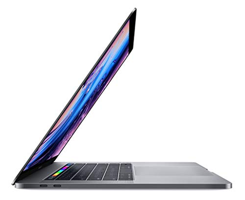 Apple 15.4in MacBook Pro Laptop (Retina, Touch Bar, 2.2GHz 6-Core Intel Core i7, 16GB RAM, 256GB SSD Storage) Space Gray (MR932LL/A) (2018 Model) (Renewed)