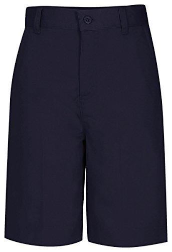 Classroom Uniforms CLASSROOM Big Girls' Adjustable Waist Flat Front Bermuda, Denim Navy, 14 by Classroom Uniforms