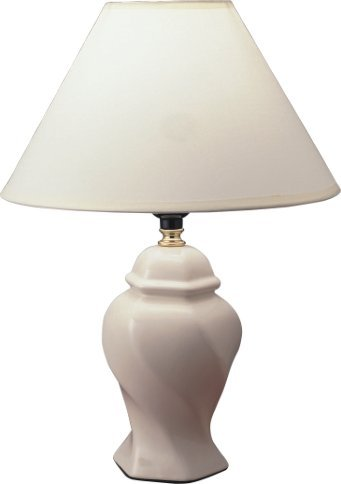 S.H. International Curved Table Lamp 15 H – Ivory
