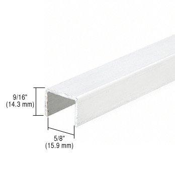 CRL White Series 3601 Side Jamb Channel for Sliding Screen Doors - 12 ft long