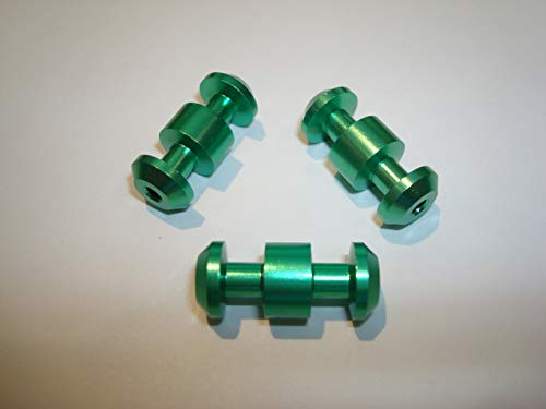 (Smith & Wesson MP 15-22 Replacement Magazine Button 3 Pack - Green CNC machined Aluminum)