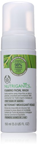 The Body Shop Nutriganics Foaming Facial Wash, 5 Fluid Ounce (Packaging May Vary)