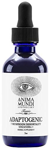 Anima Mundi Adaptogenic 7 Mushroom Immunity & Strength Drops - Organic Mushroom Tonic with Reishi, Lion's Mane, Cordyceps & Chaga, Vegan & Gluten-Free -