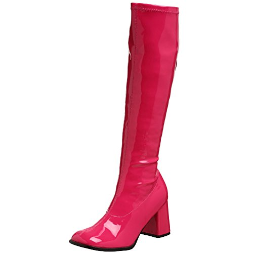 Funtasma GOGO-300 womens Hot Pink Stretch Patent Boots Size - 13 - Hot Pink Patent Footwear