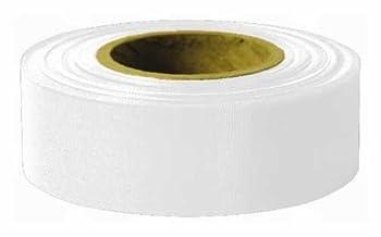 Swanson Tool RFTWT300 1-3/16in. x 300ft. Glo 2.5 mil Taffeta Grade Flagging Tape, White 6 Pack