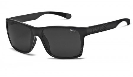 (Zeal Optics Unisex Brewer Matte Black W/Dark Grey Polarized Lens One Size)