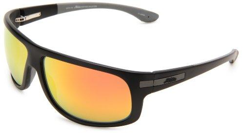 Hobie Segundo Rectangle Sunglasses,Satin Black Frame/Grey Lens,One Size