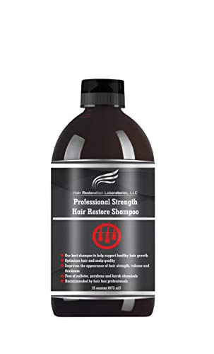 HAIR RESTORATION LABORATORIES' 2019 PROFESSIONAL STRENGTH DHT BLOCKING HAIR LOSS SHAMPOO: STRONGEST HAIR REGROWTH SHAMPOO FOR MEN & WOMEN/OVER 20 DHT BLOCKERS (Best Hair Loss For Men)