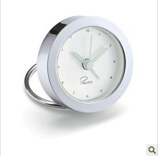 About mini portable travel alarm clock table clock with White Dial Leather
