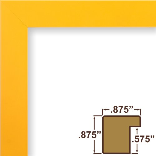 Craig Frames 140632 8 by 10-Inch Picture Frame, Solid Wood, Smooth Finish, .875-Inch Wide, Yellow