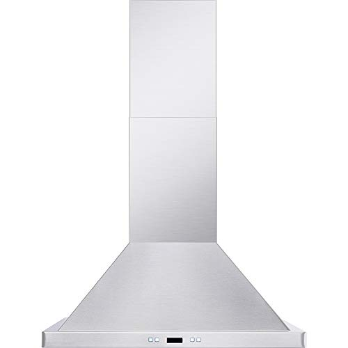 """DKB 30"""" Inch Wall Mounted Range Hood Brushed Stainless Steel With LED Lights 600 CFM"""
