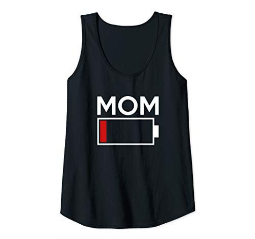- Womens Mom Low Battery Energy Tank Top