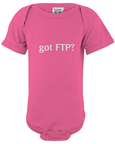 shirtloco Baby Got FTP Infant Bodysuit, Hot Pink 18 Months