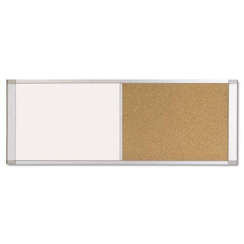 MasterVision XA10003700 Combo Cubicle Workstation Dry Erase/Cork Board, 36x18, Silver Frame