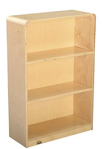 Korners for Kids 249369 Bookcase Furniture, All-Birch Veneer Panel, 4-Coat UV Acrylic, 24-1/8'' x 10'' x 35-15/16'', Natural Wood Tone
