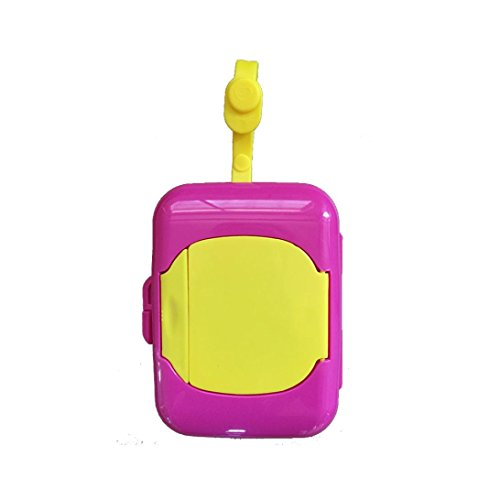 Coohole Cute Baby Travel Wipe Case Child Wet Wipes Box Changing Dispenser Home Storage Holder (Hot Pink 2) - 2 Free Mattresses