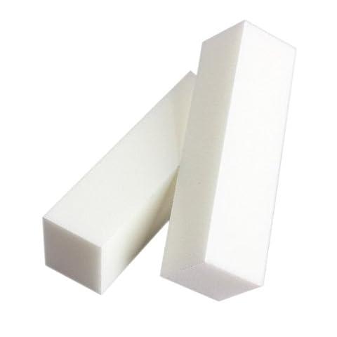 JOVANA (TM) 5 Pcs White 4 Way Nail Art Buffer Buffing Sanding Files Block Pedicure Care Manicure File
