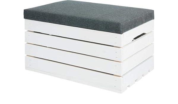 QLS - Caja de Madera para Sentarse, 60 x 40 x 35 cm: Amazon.es: Hogar