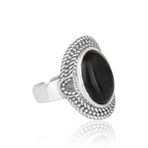 Artisan Handmade 24k Gold Vermeil Black Onyx Gemstone Designer Ring For Women Birthday Gift