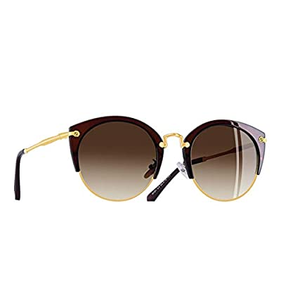 Fashion Polarized Sunglasses Women Designer Vintage Retro Cat Eye Sunglasses Female Half Frame Style Glasses A121
