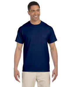 Gildan Mens 6.1 oz. Ultra Cotton Pocket T-Shirt G230 -NAVY (6.1 Ounce T-shirt)