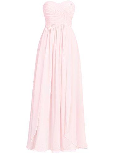 Di Da pink Chiffon Cdress Convenzionali Abiti Abiti Light Promenade Lungo Vestito Sera Tesoro Da Damigella Del qYYtZX