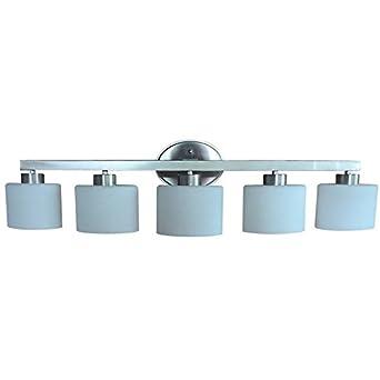 Delicieux Allen + Roth Merington 5 Light Brushed Nickel Vanity Light Bar Bathroom  Lighting Fixture, 9