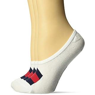 Tommy Hilfiger Women's 3 Pack Flag Sneaker Liner Socks, White, Shoe Size: 6-9.5