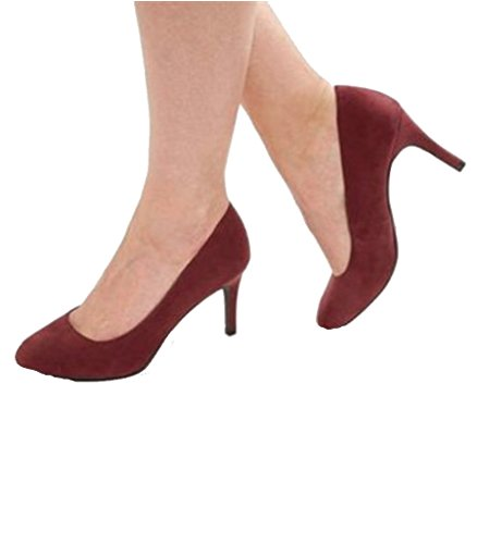 COURT MEDIUM SUEDE SHOE RASPBERRY HEEL LADIES t81w4qn