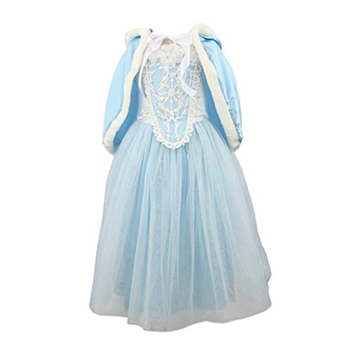 Acecharming Girls' Costume Cosplay Princess Party Fancy Dress Size 8 US Blue