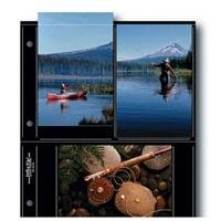 Print File BLK46-6S, Archival S-Series Album Pages, Holds Six 4x6'' Prints, Pack of 25 - Black Background by Print File