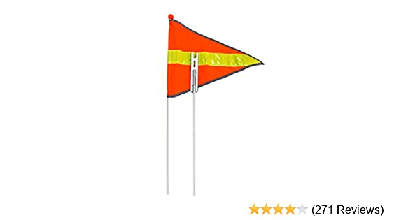 """ORIGINAL Safety Orange Flag Pole 60/"""" OR 72/"""" Bicycle Axle Mount High Visibility"""