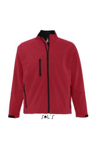 L866 SOL?S Herren Softshell Jacke Relax (bis Größe 3XL) 3XL,Pepper Red