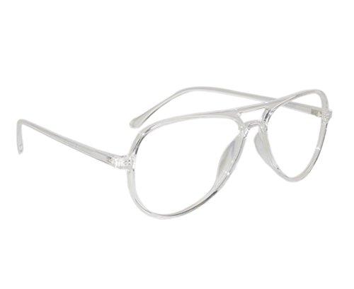 586f0d02f2 Peter Jones Stylish Transparent Aviator Unisex Optical Frame (2788W)   Amazon.in  Clothing   Accessories