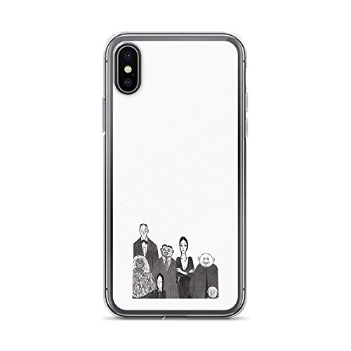 iPhone X Case iPhone Xs Case Clear Anti-Scratch The Addams Family, Addams Family Cover Phone Cases for iPhone X/iPhone Xs, Crystal -