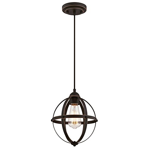 Westinghouse Lighting 6361900 Stella Mira One-Light Mini, Oil Rubbed Bronze Finish with Highlights Indoor Pendant ORB