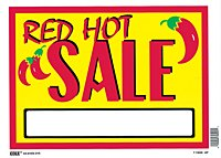 Flair Hot Numbers (Hillman 842122 Red Hot Sale Sign with Space for Fill In, Yellow and Red Plastic, 10x14 Inches 1-Sign)